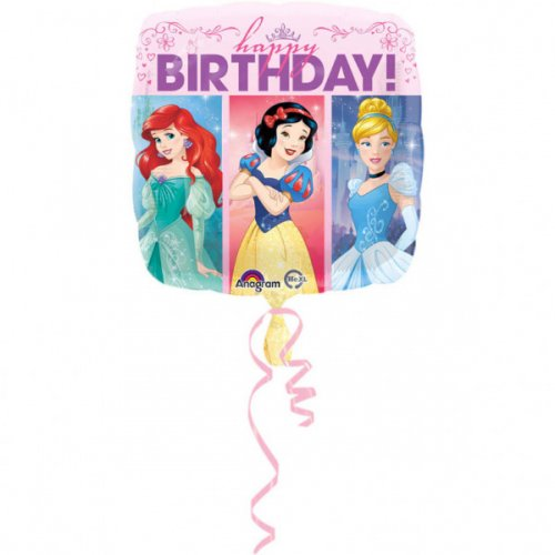 Ballon Gonflé à l Hélium Happy Birthday Princesses Disney