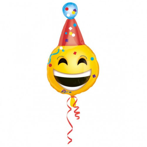 Ballon à Plat Emoji Party Maxi (63 cm)
