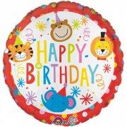 Ballon Hélium Happy Birthday Circus