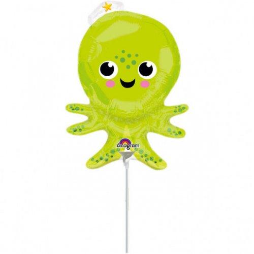Ballon sur Tige Silhouette Pieuvre