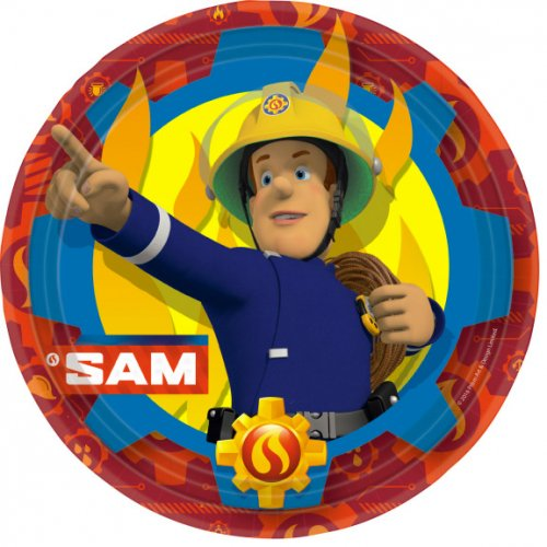 8 Assiettes Sam le Pompier Fireman