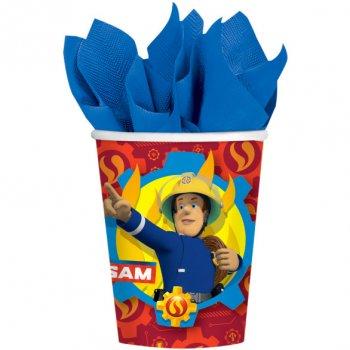8 Gobelets Sam le Pompier Fireman