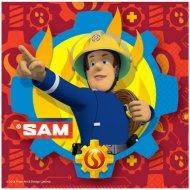 20 Serviettes Sam le Pompier Fireman