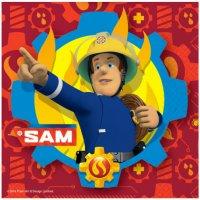Contient : 1 x 20 Serviettes Sam le Pompier Fireman