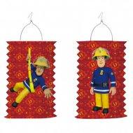 1 Lanterne Accordéon Sam le Pompier  (28 cm)