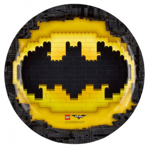 8 Assiettes Lego Batman