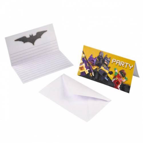 8 Invitations Lego Batman