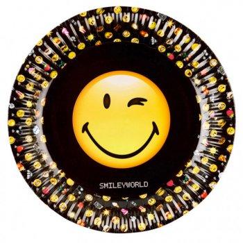 8 Assiettes Emoji Black