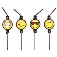 Contient : 1 x 8 Pailles Emoji Black