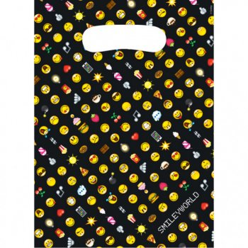 8 Pochettes Cadeaux Emoji Black