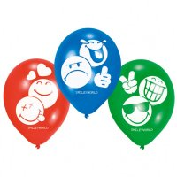 Contient : 1 x 6 Ballons Smiley World