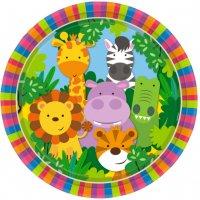 Contient : 1 x 8 Assiettes Amis de la Jungle