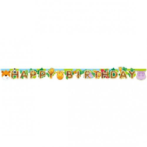 Guirlande Happy Birthday Amis de la Jungle (1,70 m)