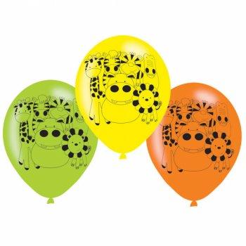 6 Ballons Amis de la Jungle