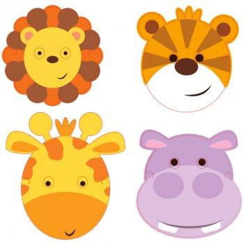 8 Masques Amis de la Jungle
