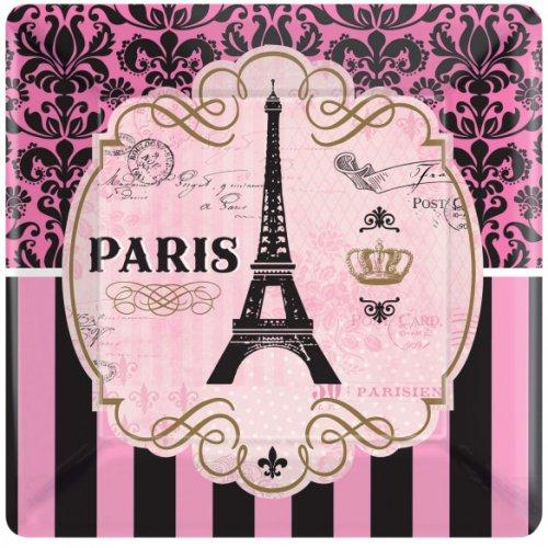 8 Grandes Assiettes Paris Rétro