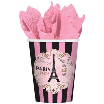8 Gobelets Paris Rétro