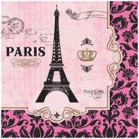 Contient : 1 x 16 Serviettes Paris rétro