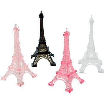 4 Tours Eiffel Paris Retro (13 cm) - Plastique