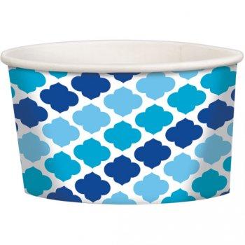 12 Pots Nuages Bleu