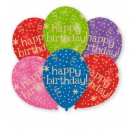 6 Ballons Happy Birthday Fiesta