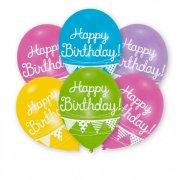 6 Ballons Happy Birthday Guirlande