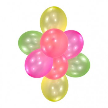 10 Ballons Translucides Néon