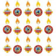 6 Guirlandes verticales Sam le Pompier Fireman (2 m)