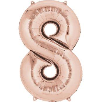 Ballon Géant Chiffre 8 Rose Gold (86 cm)