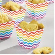 36 Minis Coupelles Chevrons Multicolores Peppy