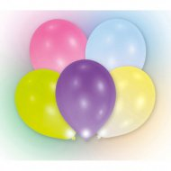 5 Ballons Lumineux LED Multicolores