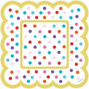 36 Minis Assiettes Pois Multicolores Peppy