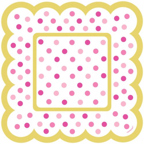 36 Minis Assiettes Pois Roses Snacky