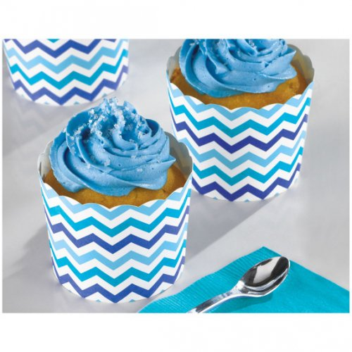 24 Coupelles Chevrons Bleus Snacky