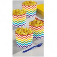 24 Coupelles Chevrons Multicolores Snacky