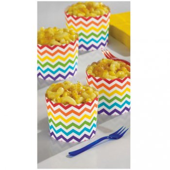 24 Coupelles Chevrons Multicolores Peppy