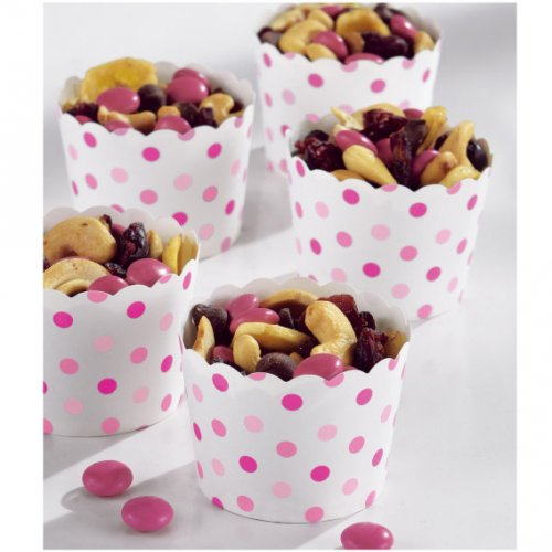 36 Minis Coupelles Pois Roses Snacky