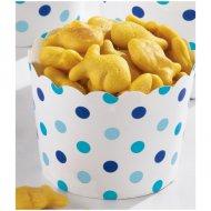 36 Minis Coupelles Pois Bleus Snacky