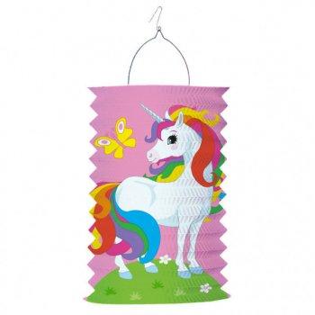Lanterne Licorne Rainbow - Papier Accordéon