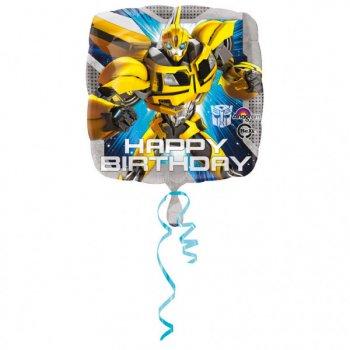 Ballon à plat Happy Birthday Transformers