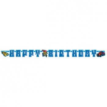 Guirlande lettres Happy Birthday Transformers RID