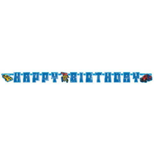 Guirlande lettres Happy Birthday Transformers RID