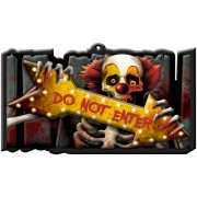 Panneau Déco Do Not Enter Clown (44 cm) - Plastique