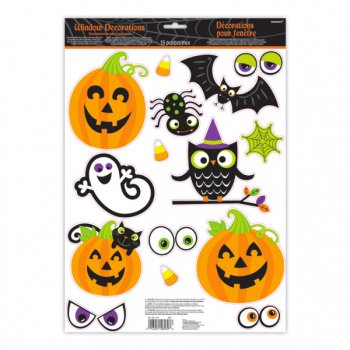 15 Deco de Fenêtre Spooky Halloween