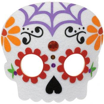 Demi Masque Squelette Calavera - Feutrine