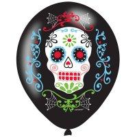 Contient : 1 x 6 Ballons Fiesta Calavera