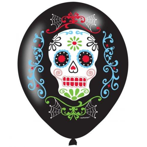 6 Ballons Fiesta Calavera