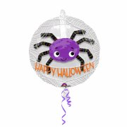 Double Ballon Araignée Happy Halloween - Maxi (60 cm)