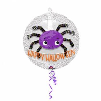 Double Ballon Araignée Happy Halloween - Maxi (60 cm)