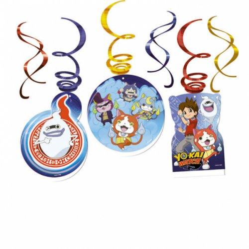 6 Guirlandes Spirales Yo Kai Watch (80 cm)